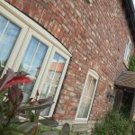 cream double glazed windows